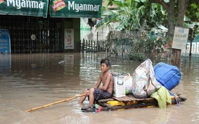 Flooding leaves thousands displaced in Myanmar