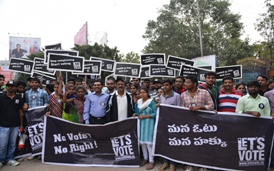 Voters' awareness rally in Hyderabad