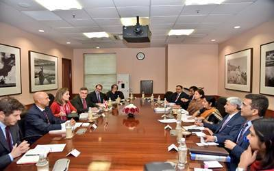 Sushma Swaraj, Canadian Foreign Minister hold strategic dialogue