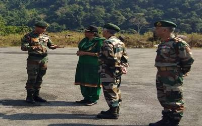 Defence minister tours forward areas in Arunachal