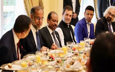 Rahul begins UAE trip interacting with business leaders