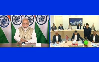Modi, Oli jointly inaugurate petroleum products pipeline (2nd lead)