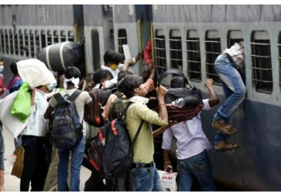 Migrants on 'Ram bharose' journey as IR re-routes trains(2nd Ld)